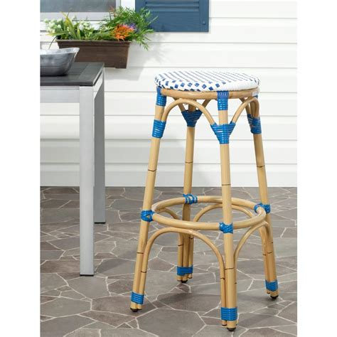 Multi Colored Stool by Safavieh Kipnuk 30 7 In Multi Colored Bar Stool Fox5211a