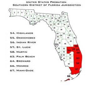 florida federal district court map us probation southern district of florida