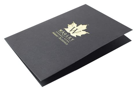 custom printed square corners two pocket presentation folder