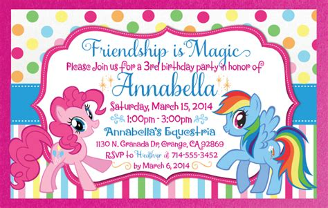 my little pony invitation envelope di 275env harrison