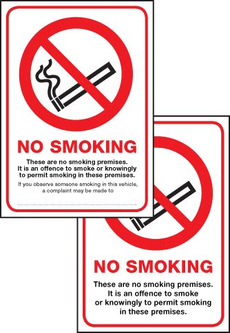 no smoking signage requirements scotland 53032 scotland no smoking premise double sided 75x100mm