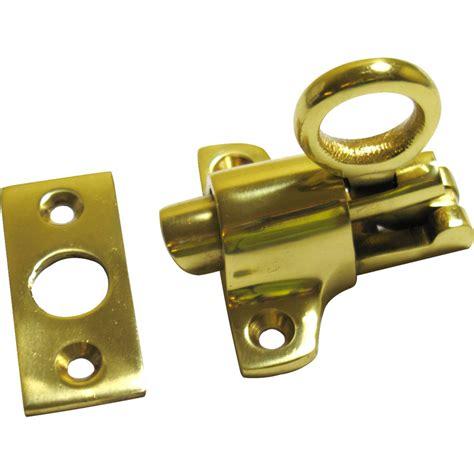 Attic Door Latch by Fanlight Catch Polished Brass Toolstation