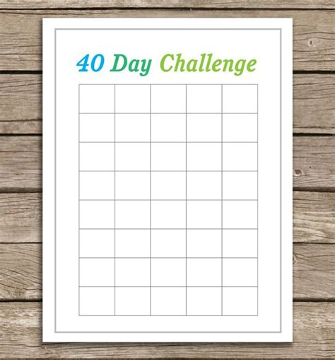 17 best images about 40 day challenges on