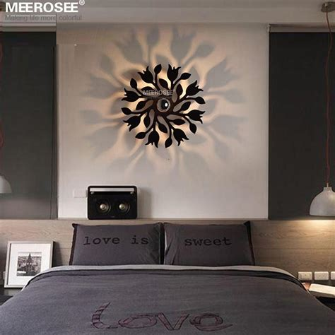 Modern Wall Lights For Bedroom Home Interiors | 1 light modern wall decor sconces ligne roset beside wall