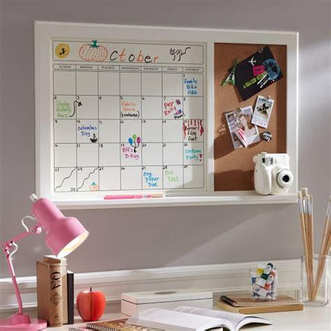 how to make a whiteboard calendar erase calendar corkboard pbteen