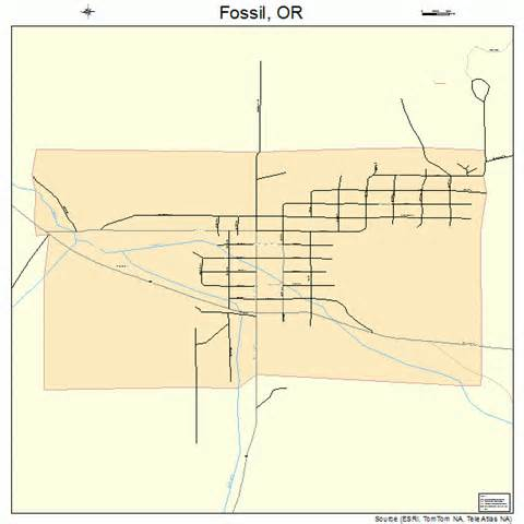 fossil oregon map fossil oregon map 4126650