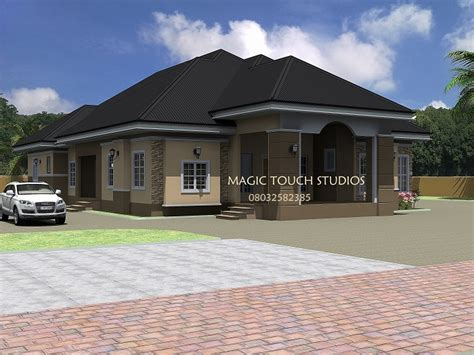 bungalow bedroom 4 bedroom bungalow residential homes and public designs