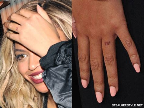 does beyonce have tattoos beyonc 233 s 4 tattoos meanings style
