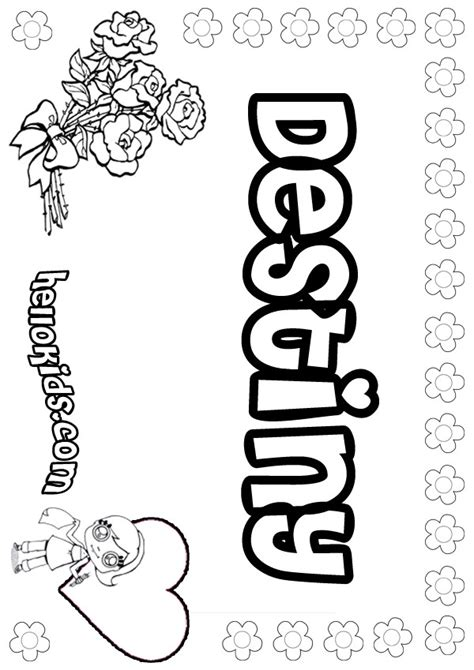 coloring page name destiny coloring pages hellokids