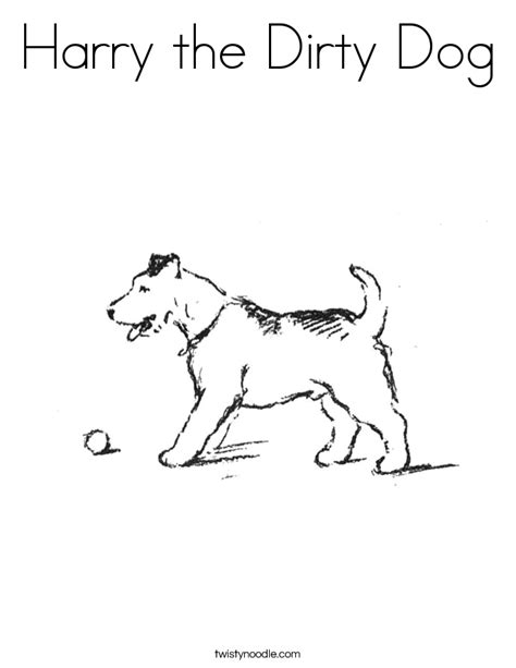 harry the dirty dog coloring page twisty noodle