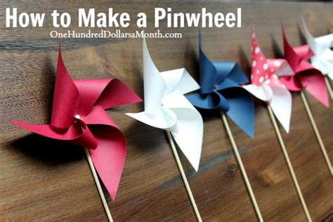 How To Make A Paper Pinwheel - easy crafts for how to make a pinwheel