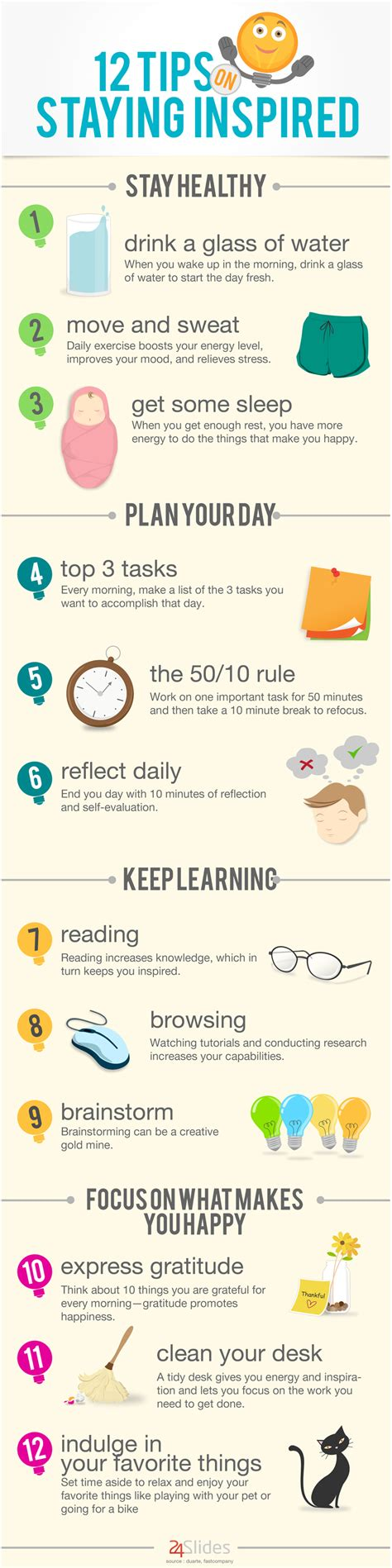 infographic 12 tips on staying inspired blog
