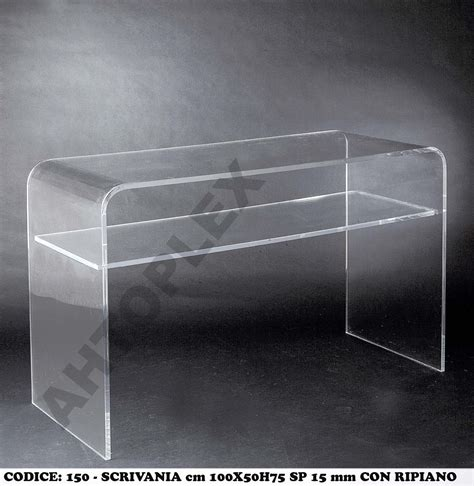 scrivania plexiglass office and console desks