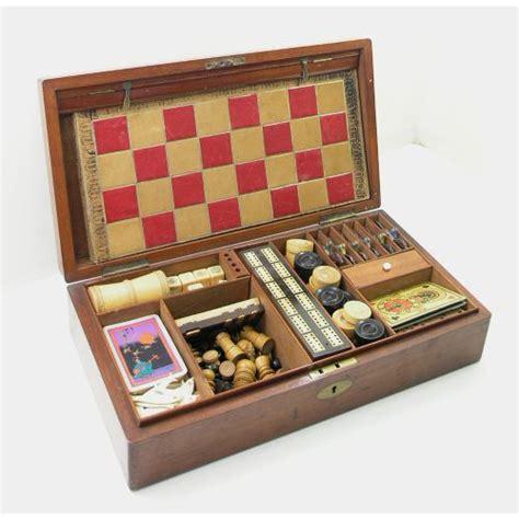 victorian mahogany boxed games compendium jacques