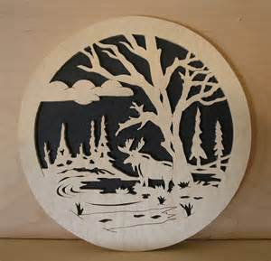 Scroll saw pattern moose 10