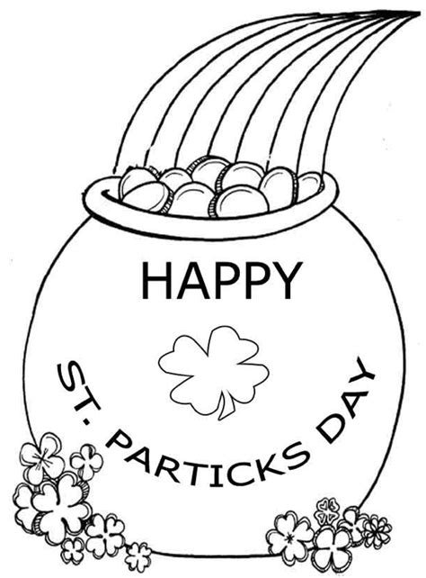 printable pot of gold coloring page coloringpagebook com