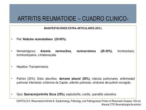 artritis reumatoide cuadro clinico artritis reumatoide
