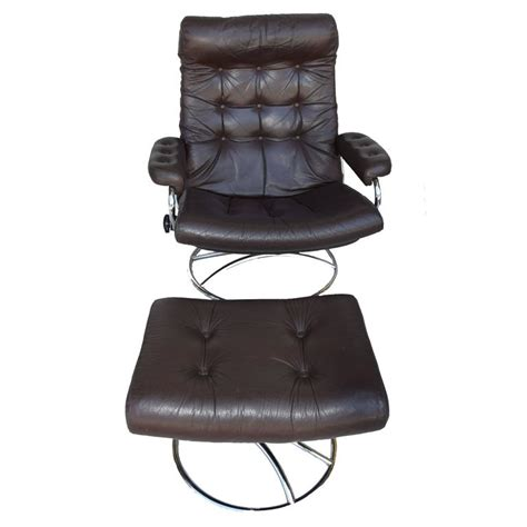 ekornes stressless recliner replacement parts ekornes stressless chair and ottoman 1972 at 1stdibs