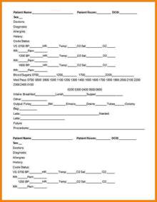 Nursing Handoff Report Template 8 nursing handoff report template monthly bills template