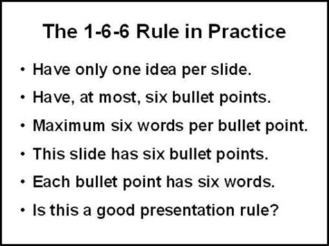 powerpoint math the 1 6 6 rule manner of speaking