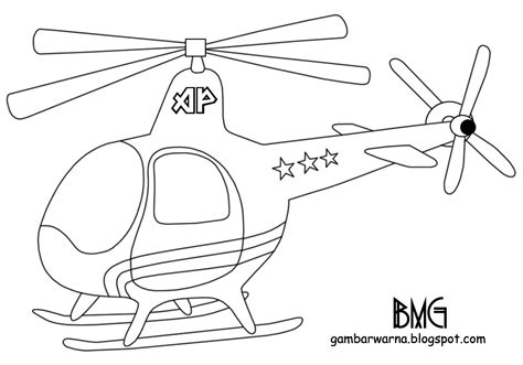 mewarnai helikopter belajar mewarnai gambar