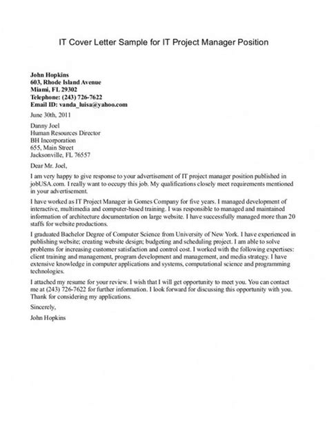cover letter for management position cover letter program manager cover letter writing a