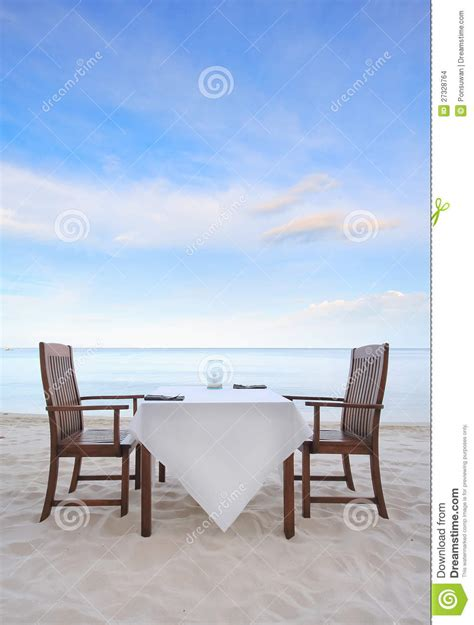 on the beach dining on the beach stock images image 27328764
