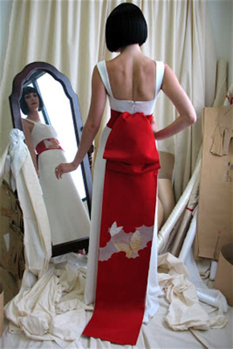 design japanese dress japanese modern wedding dress design with big ribbon