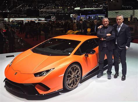 Lamborghini Show Huracan Performante At Geneva Motor Show The Model In 1