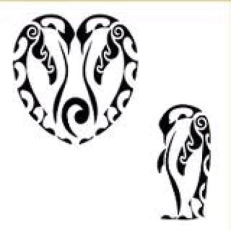 tribal penguin tattoo meaning repin i wasn t sure i d find a penguin to