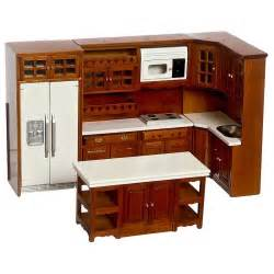 dollhouse furniture kitchen walnut kitchen dollhouse miniature set walmart