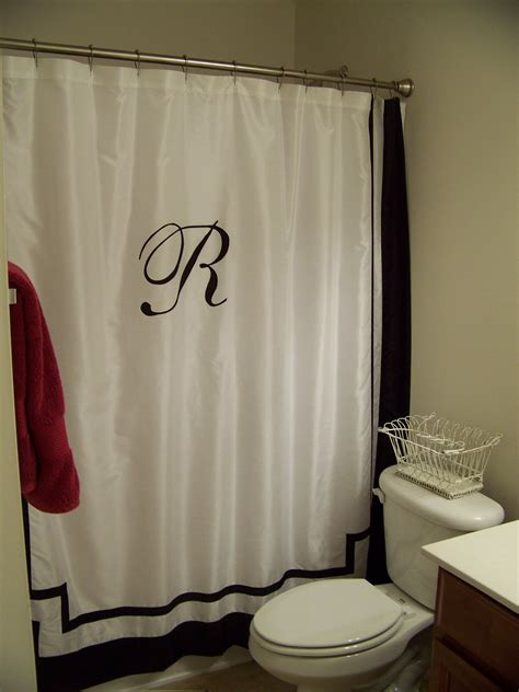shower curtains monogrammed lissalaneous thoughts monogrammed shower curtain