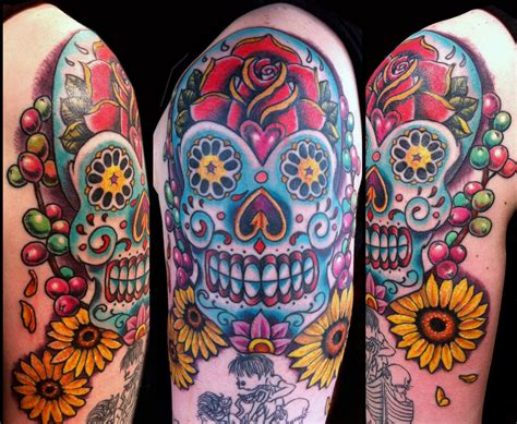 day of the dead tattoos with roses catrina day of the dead archives to the needle