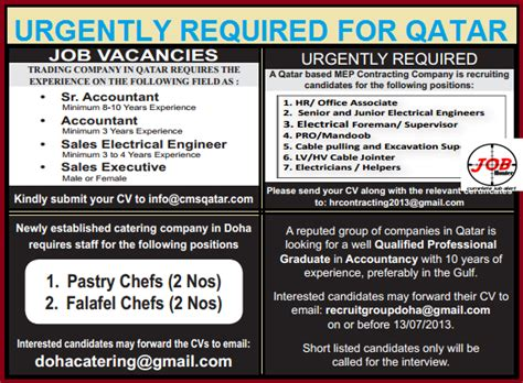 design engineer jobs qatar accountant electrical engineer pro hr job vacancies in