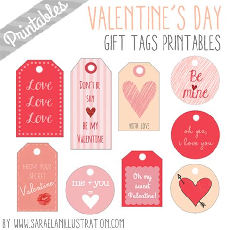 printable gift tags for valentines saraelan illustration valentine s gift tags printables