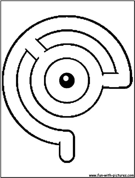 unown pokemon coloring pages 17 best images about pokemon coloring pages on pinterest