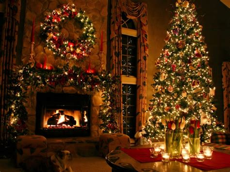 christmas fireplace fire holiday festive decorations hx