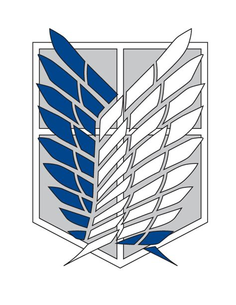 Snk Scouting Legion Emblem Frame attack on titan logo wallpaper wallpapersafari