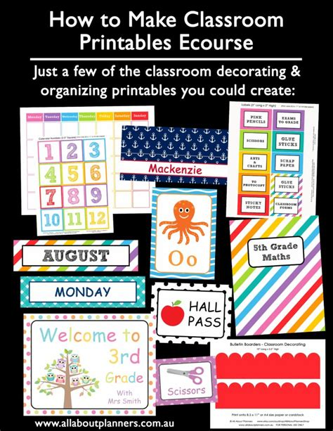 How To Make Teaching Printables And Classroom Decorating Kits To Sell On Teachers Pay Teachers Classroom Templates