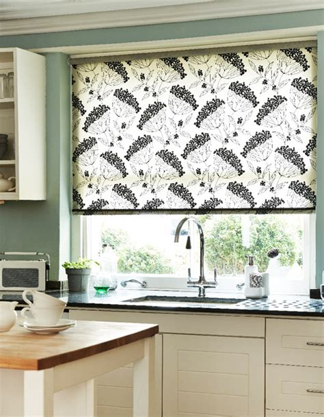 kitchen blind ideas patterned kitchen roller blinds modern iagitos com