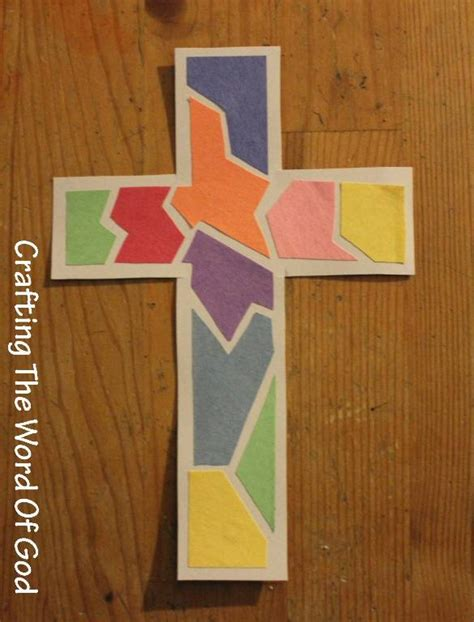 Mosaic cross 171 crafting the word of god
