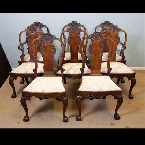 Antique Walnut Dining Chairs Antique Georgian Edwardian Furniture The Antique Shop