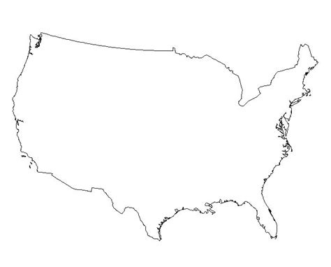 usa map outline clip united states vector outline clipart best