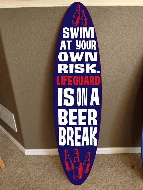 Surf Signs Decor by 1000 Ideas About Pool Signs On Pool