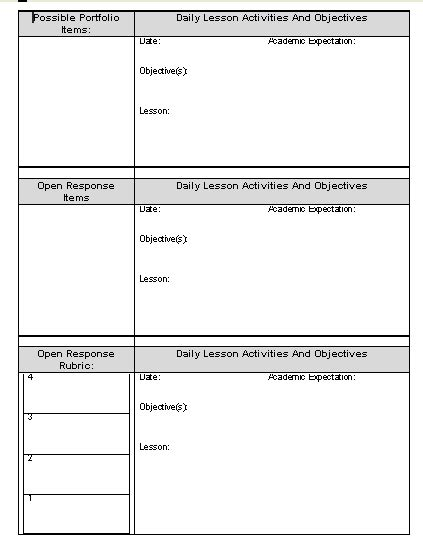 day plan template for teachers planner word template sle