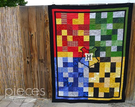 Harry Potter Quilt by Pieces By Polly Hogwarts Quilt With Crest Harry Potter Inspired