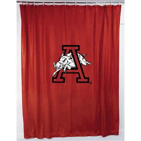 razorback shower curtain arkansas razorbacks locker room shower curtain