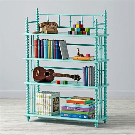 lind bookcase teal the land of nod