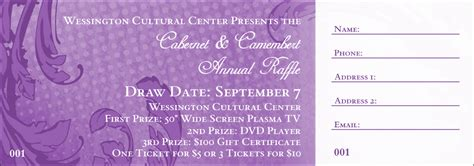 purple citation template classic purple raffle ticket