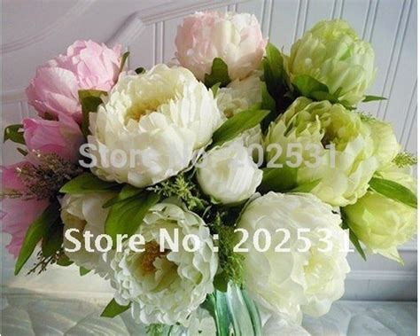 Free Shipping 7 Flower Heads Artificial Flowers 7 Flower Heads Per Bunch Scenery Peony Wedding Home